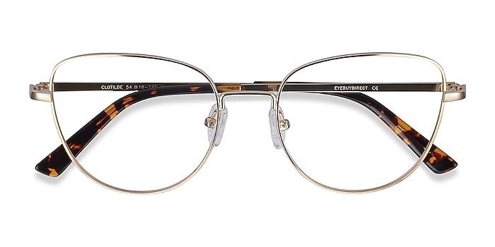 Gold Clotilde -  Vintage Metal Eyeglasses