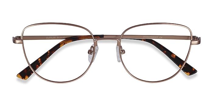 Rose Gold Clotilde -  Vintage Metal Eyeglasses