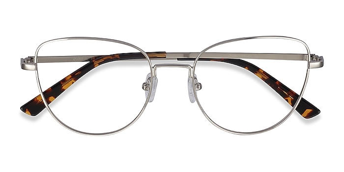 Silver Clotilde -  Vintage Metal Eyeglasses
