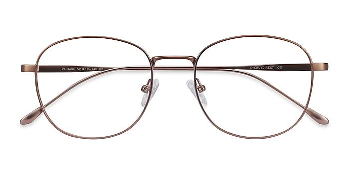 Matte Pink Vantage -  Vintage Metal Eyeglasses