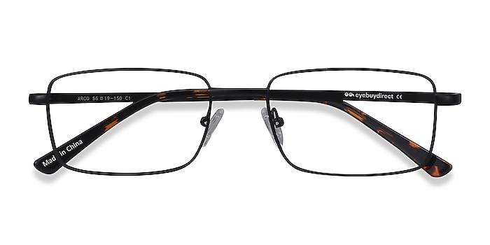 Black Arco -  Metal Eyeglasses