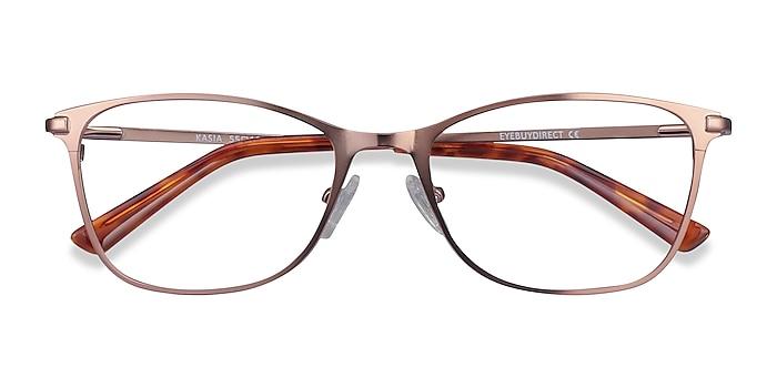 Rose Gold Kasia -  Fashion Metal Eyeglasses