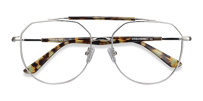 Silver Tortoise Coxon -  Vintage Metal Eyeglasses