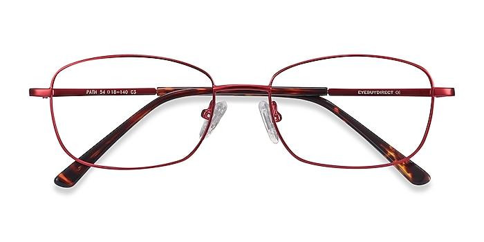 Burgundy Path -  Lightweight Metal Eyeglasses