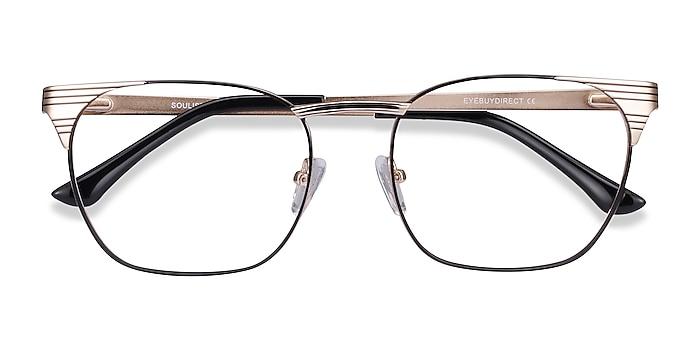 Black Golden Soulist -  Metal Eyeglasses