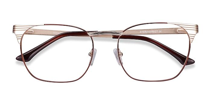 Brown Golden Soulist -  Metal Eyeglasses