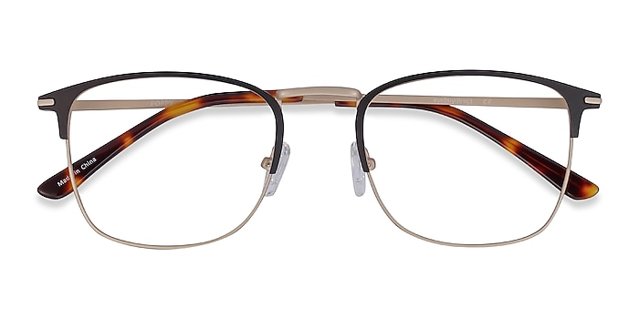 Black Gold Poppy -  Metal Eyeglasses