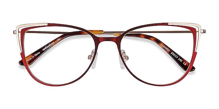 Red & Gold Garance -  Fashion Metal Eyeglasses