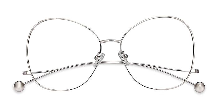 Silver Renata -  Vintage Metal Eyeglasses