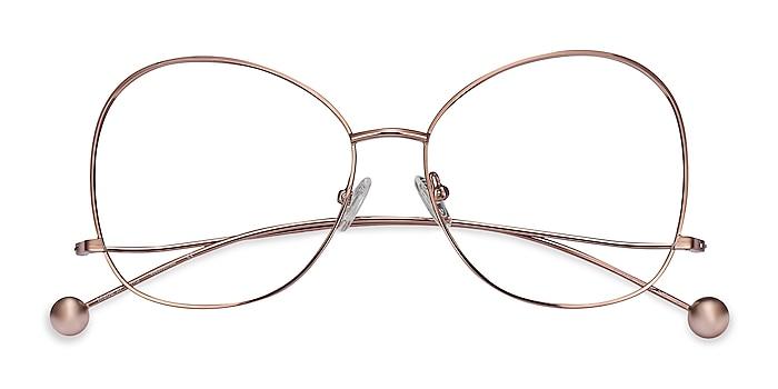 Rose Gold Renata -  Vintage Metal Eyeglasses