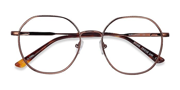 Brown Sylvie -  Metal Eyeglasses