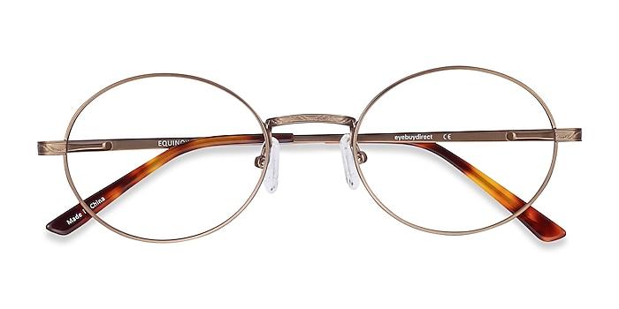 Bronze Equinox -  Lightweight Metal Eyeglasses