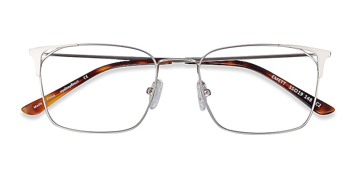 Silver Emett -  Lightweight Metal Eyeglasses