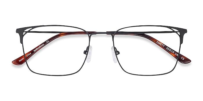 Black Emett -  Lightweight Metal Eyeglasses