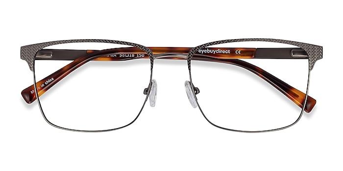 Gunmetal Capra -  Acetate, Metal Eyeglasses