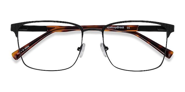 Black Capra -  Acetate, Metal Eyeglasses