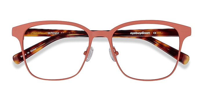 Coral & Tortoise Intense -  Geek Acetate, Metal Eyeglasses