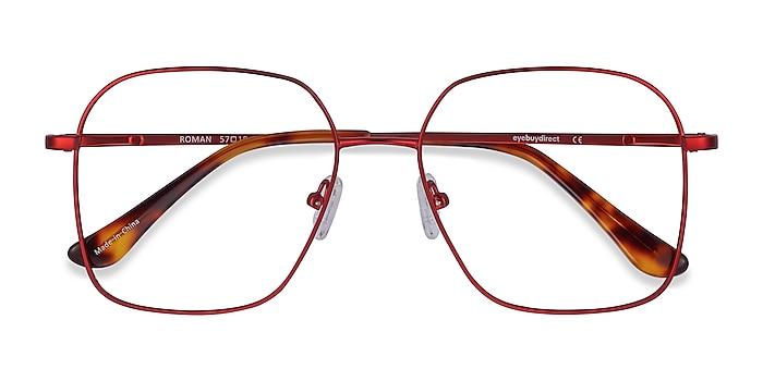 Red Roman -  Vintage Metal Eyeglasses