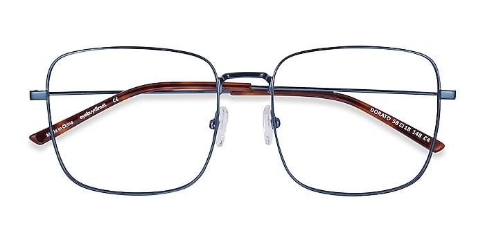 Navy Dorato -  Fashion Metal Eyeglasses