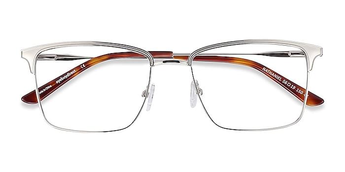 Silver Nathaniel -  Metal Eyeglasses