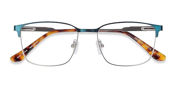 Navy Leopold -  Metal Eyeglasses