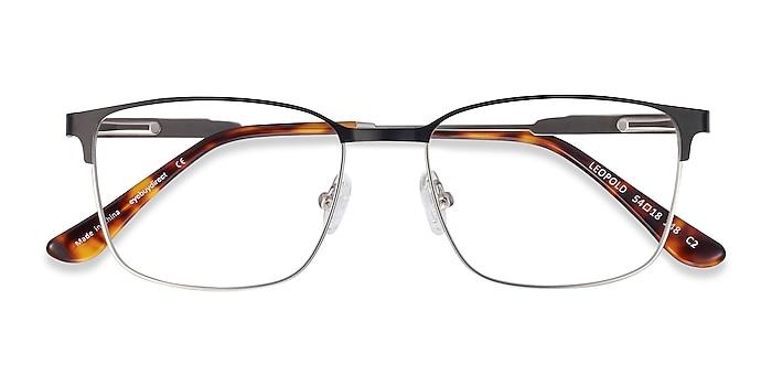 Black Leopold -  Metal Eyeglasses