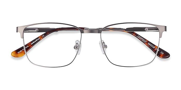 Gunmetal Leopold -  Metal Eyeglasses