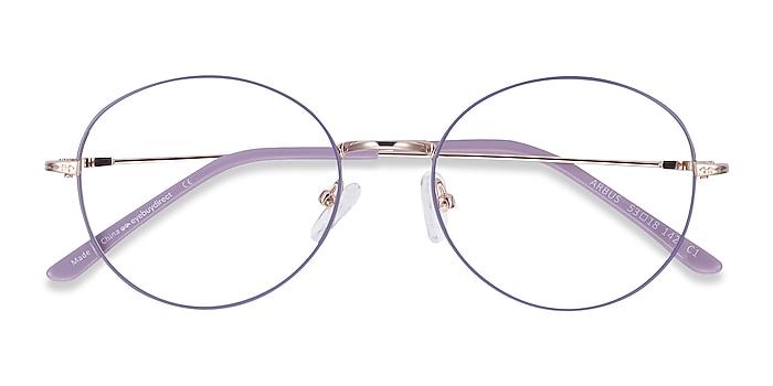 Purple & Gold Arbus -  Lightweight Metal Eyeglasses