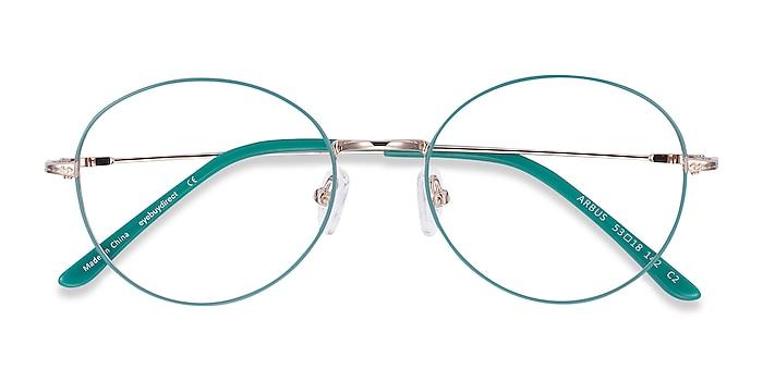 Green & Gold Arbus -  Lightweight Metal Eyeglasses