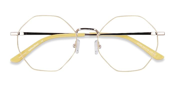 Yellow & Gold Altar -  Fashion Metal Eyeglasses