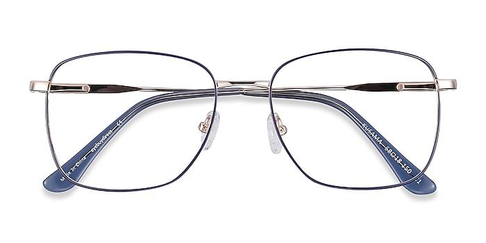 Navy & Gold Kusama -  Vintage Metal Eyeglasses