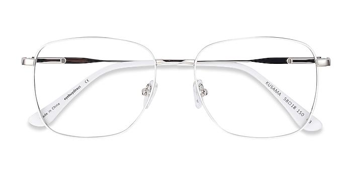 White & Silver Kusama -  Vintage Metal Eyeglasses