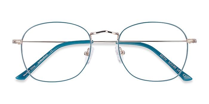 Green & Gold Keith -  Classic Metal Eyeglasses