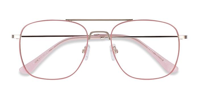 Pink & Rose Gold Perry -  Vintage Metal Eyeglasses