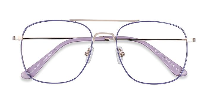 Purple & Gold Perry -  Vintage Metal Eyeglasses