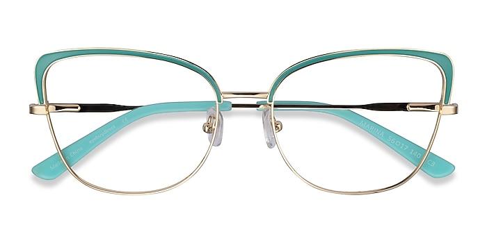 Aqua Gold Marina -  Colorful Metal Eyeglasses