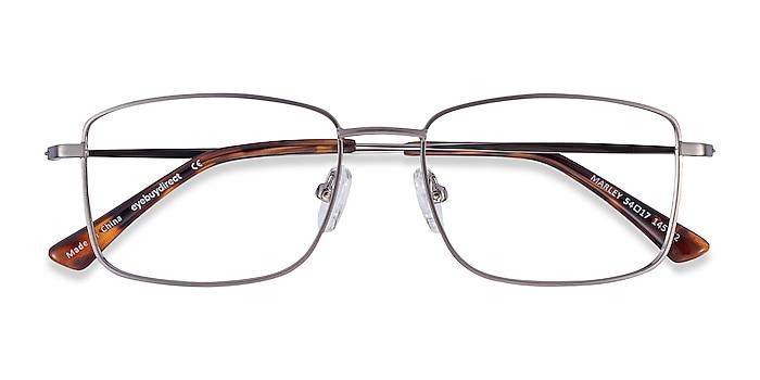 Gunmetal Marley -  Classic Metal Eyeglasses
