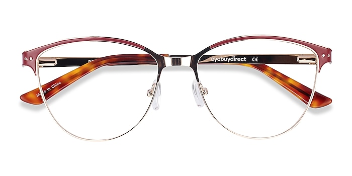 Red & Gold Rosa -  Fashion Metal Eyeglasses