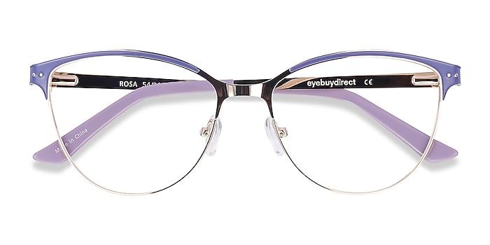 Purple & Gold Rosa -  Fashion Metal Eyeglasses