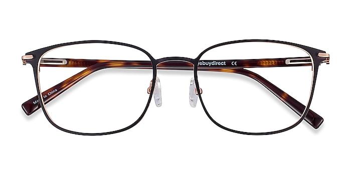 Black Rose Gold River -  Acetate, Metal Eyeglasses
