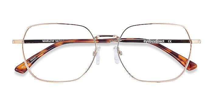 Gold Marlow -  Metal Eyeglasses