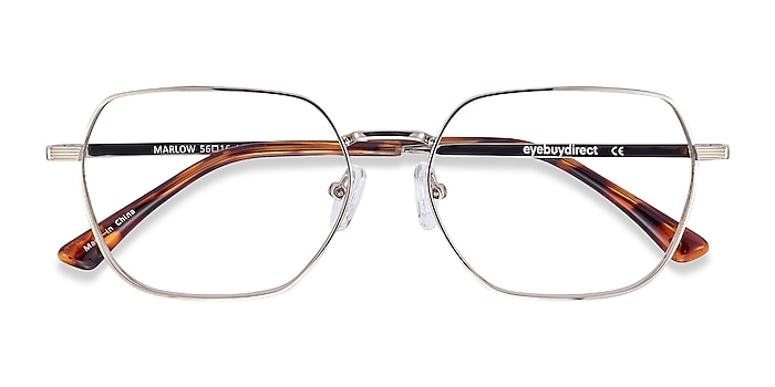 Silver Marlow -  Metal Eyeglasses