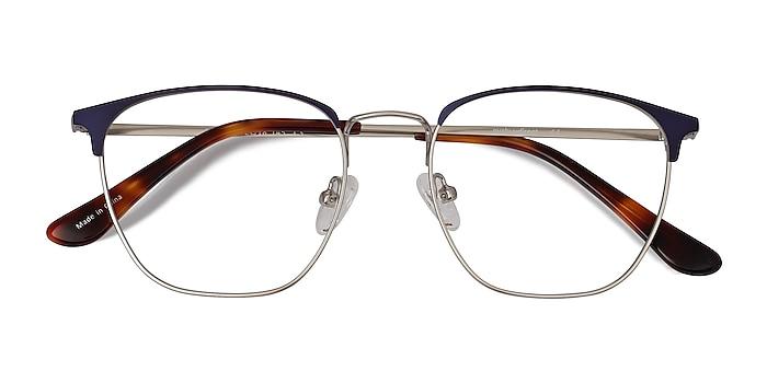 Blue Silver Codex -  Metal Eyeglasses
