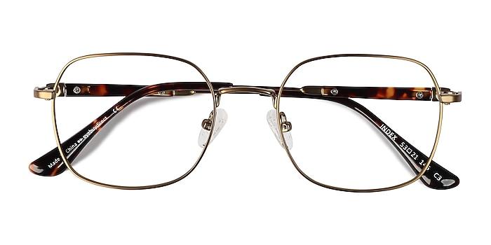 Bronze Tortoise Index -  Metal Eyeglasses