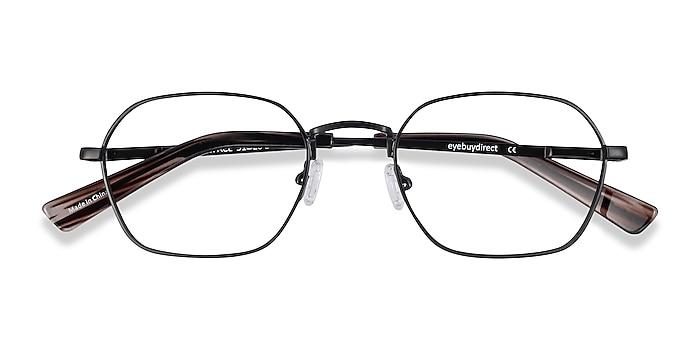 Matte Black Space -  Vintage Metal Eyeglasses