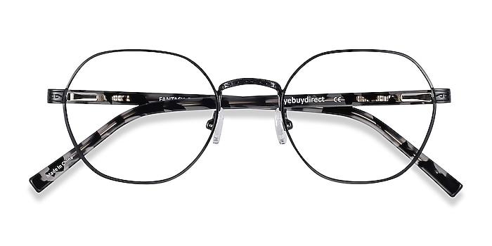 Black Fantasy -  Vintage Acetate, Metal Eyeglasses