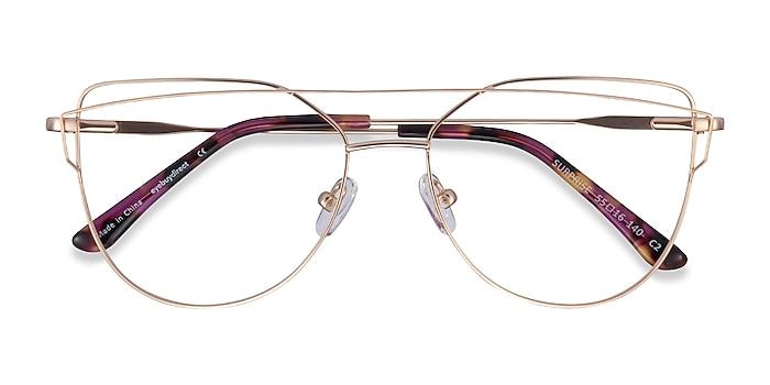 Matte Gold Surprise -  Fashion Metal Eyeglasses