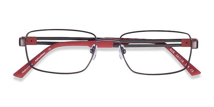 Gunmetal Red Bob -  Carbon Fiber Lunettes de vue