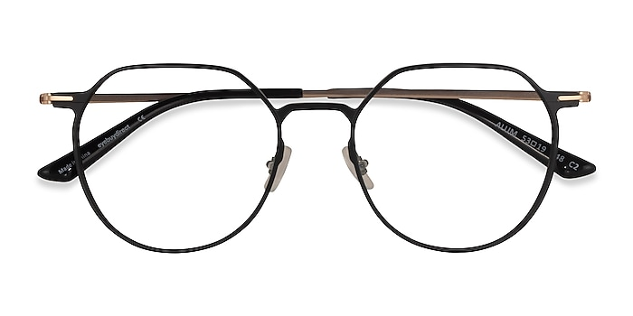 Black & Gold Alum -  Aluminium Alloy Eyeglasses