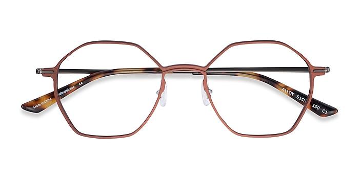 Brown & Gunmetal Alloy -  Aluminium Alloy Eyeglasses